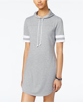 Ultra Flirt Juniors' Striped-Sleeve Hoodie Dress