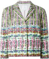Stella Jean three-quarter sleeve boxy jacket - women - Cotton/Acetate/Viscose - 40