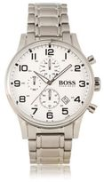 HUGO BOSS Hbaerir Chronograph Stainless Steel 3-Hand Quartz Watch One Size Assorted-Pre-Pack