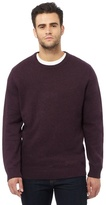 Maine New England Big And Tall Purple Crew Neck Jumper