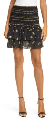 Dolan Eleanor Mixed Floral Smocked Skirt