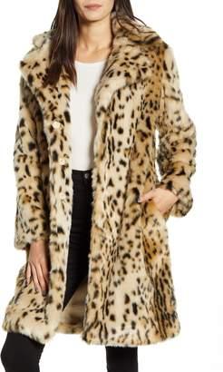 Cupcakes And Cashmere Jericho Leopard Faux Fur Coat