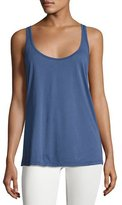 Johnny Was Cotton Modal Scoop-Neck Tank, Navy, Plus Size