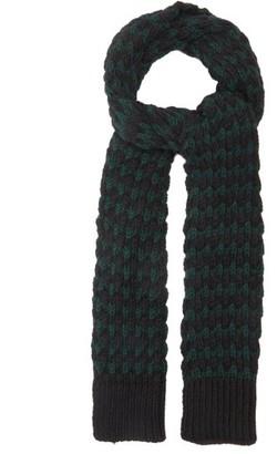 Raf Simons Jacquard-knitted Alpaca-blend Scarf - Black