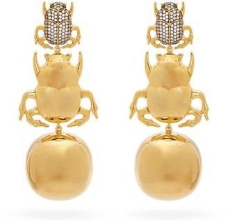 BEGÜM KHAN Forever Party Scarab Gold-plated Clip Earrings - Gold