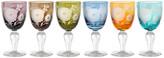 Pols Potten Peony Multicolour Wine Glasses - Set of 6