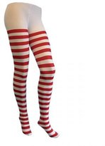 Unknown ladies red white tights striped opaque pantyhose christmas fancy dress candy cane