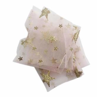 Lankater Summer Glitter Thin Mesh Tulle Socks Clear Ultra Thin Fishnet Star Hosiery