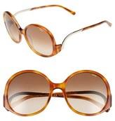 Chloé Women's 'Emilia' 57Mm Round Sunglasses - Blonde Havana