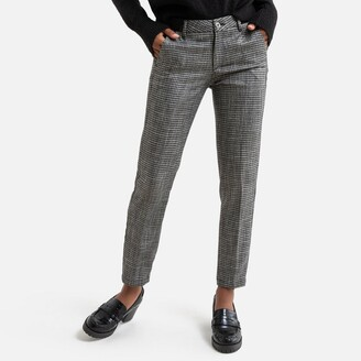Freeman T. Porter Claudia Fairy Checked Straight-Leg Pants