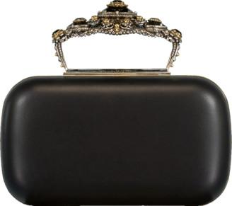 Alexander McQueen Box Leather Clutch Bag