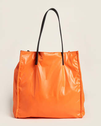 French Connection Orange & Black Heidi Reversible Tote