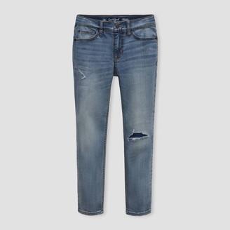 Cat & Jack Boys' Super Stretch Distressed Slim Fit Jeans - Cat & JackͲ Light
