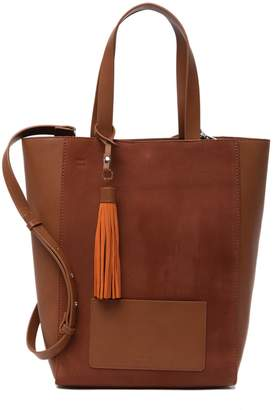 French Connection Suede Linnet Contrast Tote Bag