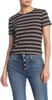 Frame True Stripe Knit T-Shirt