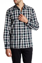 Kenneth Cole New York Long Sleeve Button Up Plaid Flannel Shirt