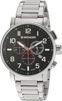 Wenger Men's 01.0343.105 Attitude Chrono Analog Display Swiss Quartz Silver Watch