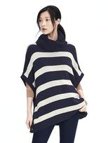 Banana Republic Reversible Stripe Turtleneck Poncho