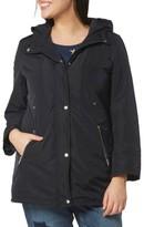 Evans Plus Size Women's Zip Pocket Hooded Coat