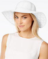 Collection XIIX Lace Polka Dot Petal Floppy Hat