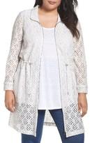 Nic+Zoe Plus Size Women's Lush Lace Coat