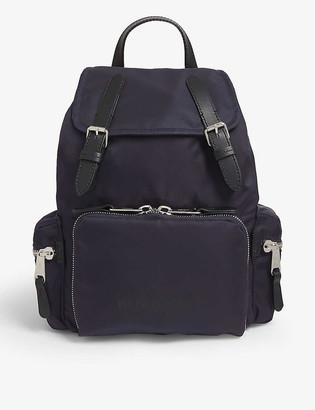 Burberry Medium logo-print nylon backpack