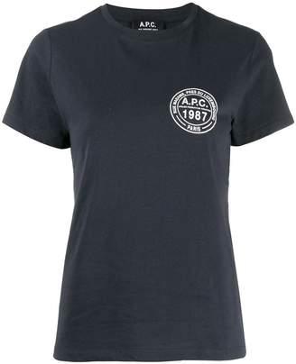 A.P.C. logo print T-shirt