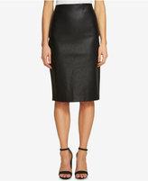 CeCe Faux-Leather Pencil Skirt