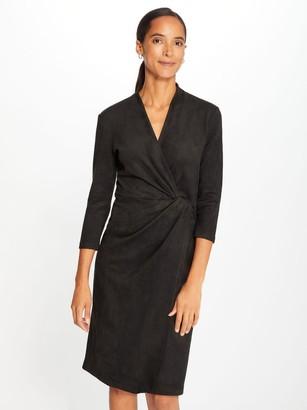 J.Mclaughlin Lillian Faux Suede Wrap Dress