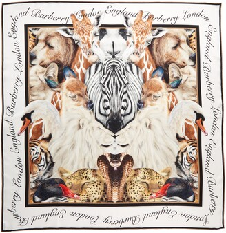 Burberry Animal Portraits Silk Scarf