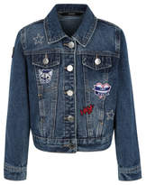 George Embroidered Patch Denim Jacket