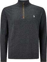 Polo Golf By Ralph Lauren Slim Fit Half-zip Knitted Jumper, Onyx Heather