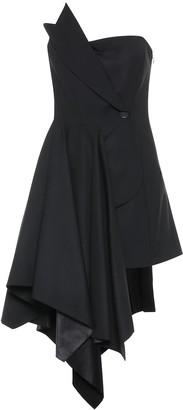 Monse Asymmetric stretch-wool dress