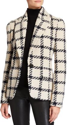 Isabel Marant Check Wool-Blend Blazer