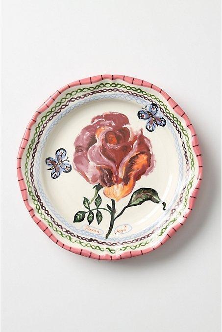 Anthropologie Fluttering Petals Dinner Plate