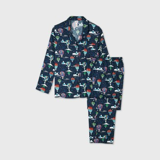 Women's Plus Size Holiday Hot Air Balloon Print Flannel Matching Family Pajama Set - WondershopTM