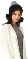 Jocelyn Mink Tails Beanie with Fur Pom Pom