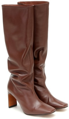 Souliers Martinez Enero leather knee-high boots