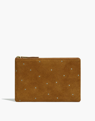 Madewell The Suede Pouch Clutch: Embroidered Dot Edition