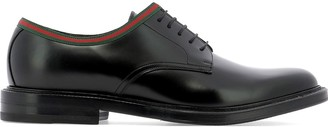 Gucci Web Lace-Up Shoes