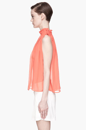 See by Chloe Coral floating silk Blouse