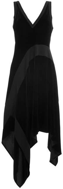 DKNY Velvet Dress with Asymmetric Hemline