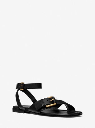 Michael Kors Collection Langley Leather Sandal