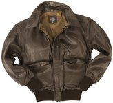 Mil-Tec Men's A2 Leather Flight Jacket