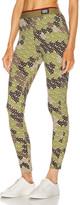Burberry Turama Camo Legging in Khaki Green | FWRD