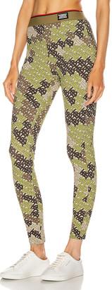 Burberry Turama Camo Legging in Khaki Green   FWRD