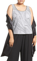 Alex Evenings Satin Wrap (Plus Size)