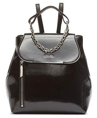 Calvin Klein Western Novelty Statement Chain Flap Backpack