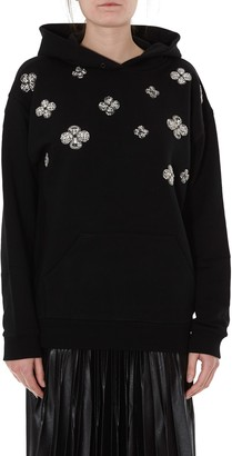 Givenchy Floral Crystal Embroidered Hoodie