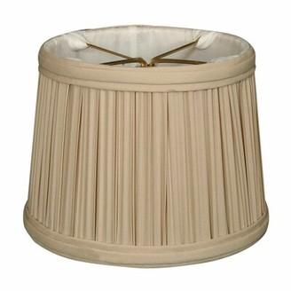 "Alcott Hillâ® Gather Pleat 5"" Silk Drum Candelabra Shade Alcott HillA Color: Beige"